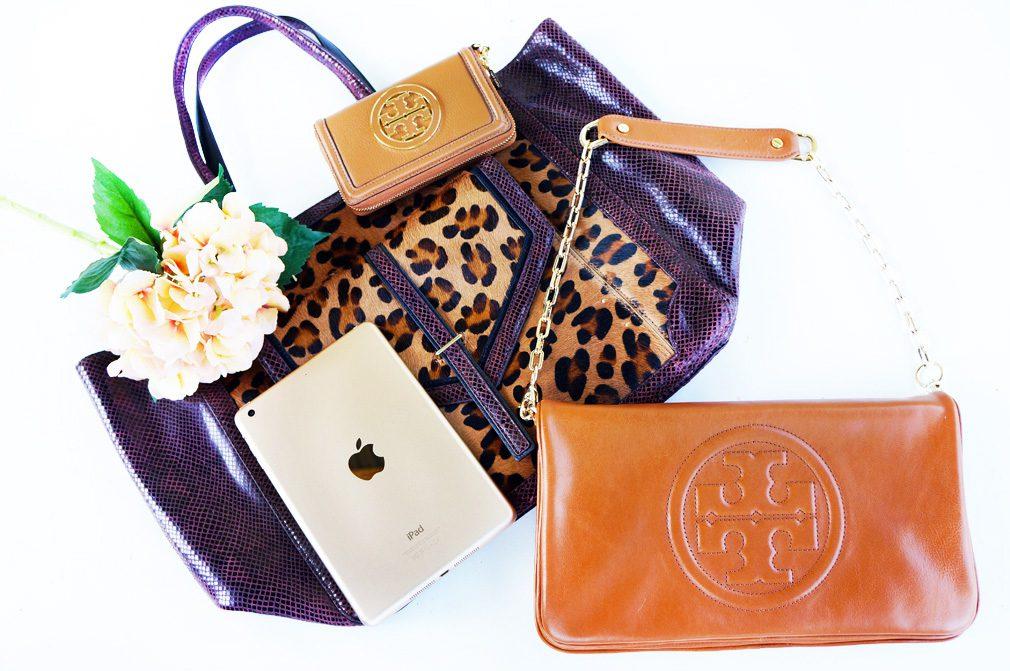 iPad Mini Tory Burch Tote Shoulder Bag Wallet Giveaway