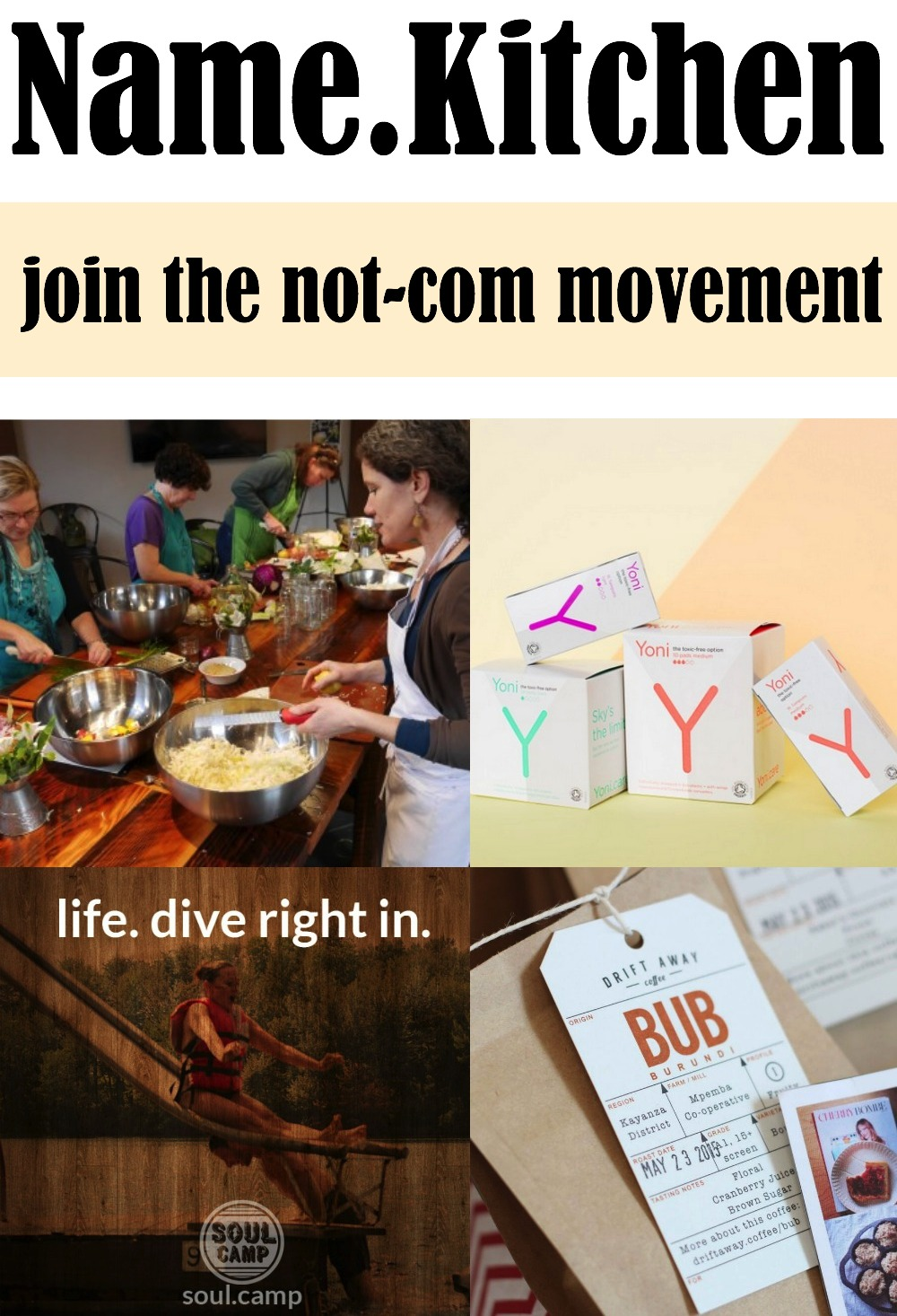 Join the Not-Com Movement with Name.Kitchen