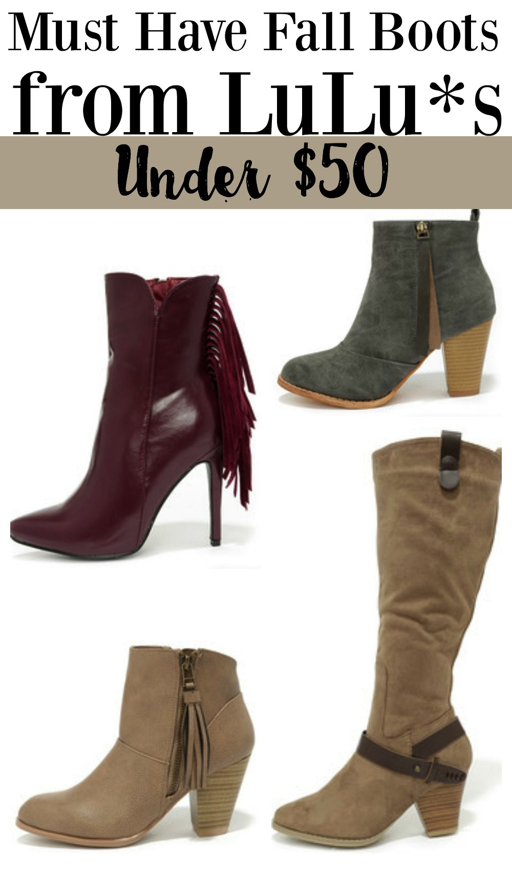 75cd43c5a7a Must Have Fall Boots Under $50 from LuLu*s