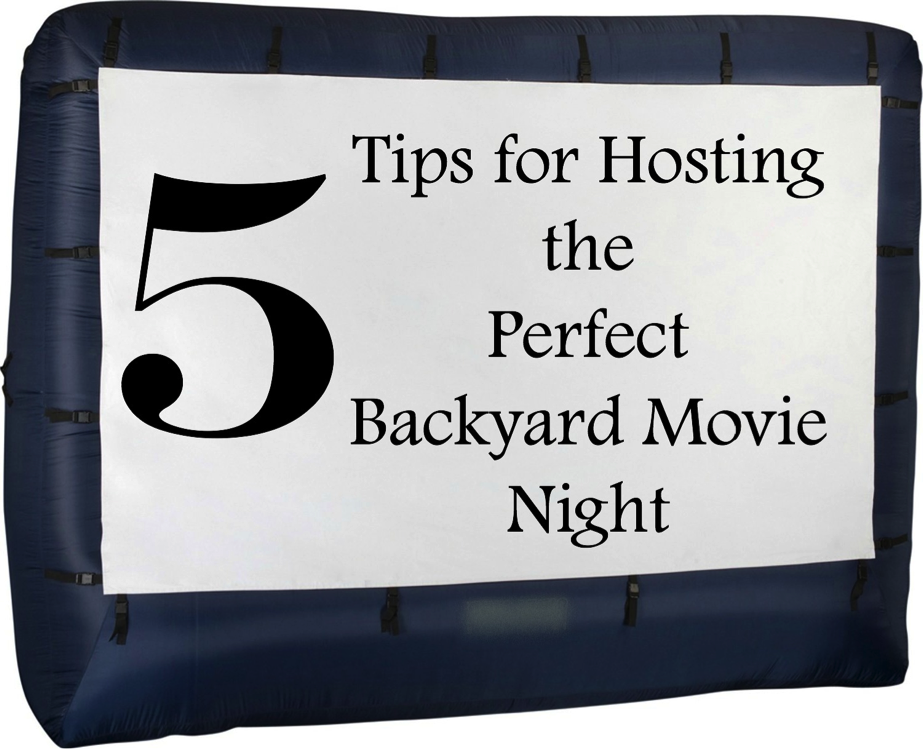 5 Tips for Hosting the Perfect Backyard Movie Night #PopcornPartyTime