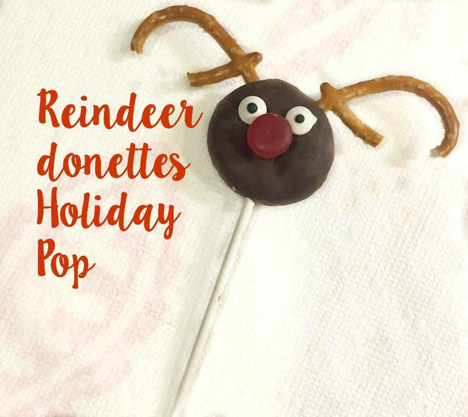 Reindeer donettes Holiday Pops #HostessHolidays