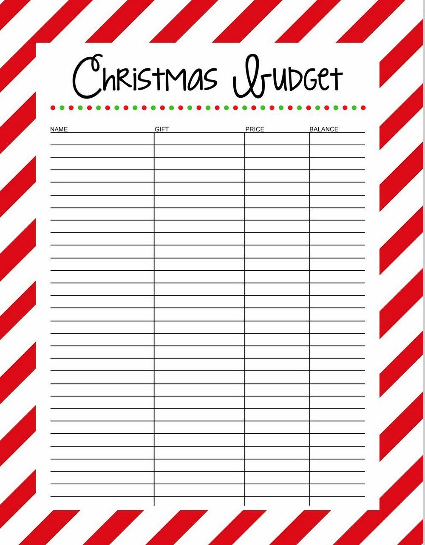 Regions Christmas Budget List