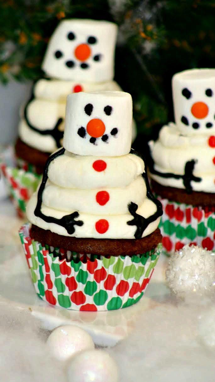 Snowman Cupcakes3