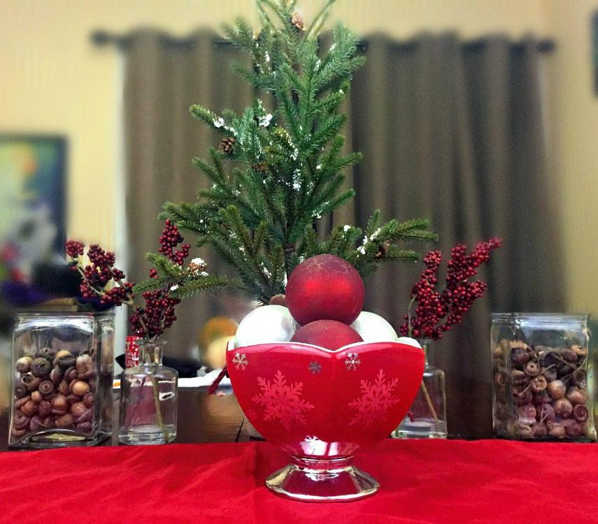 Teleflora silver and joy centerpiece with reusable vase