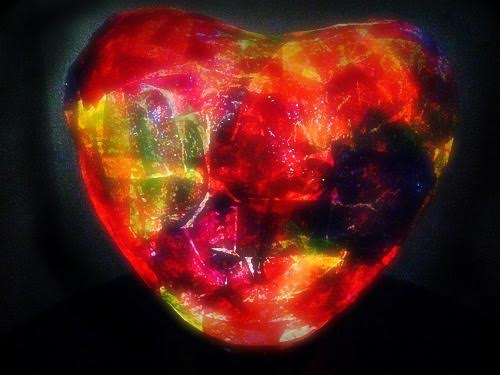 DIY Heart-Shaped Tissue Paper Nightlight