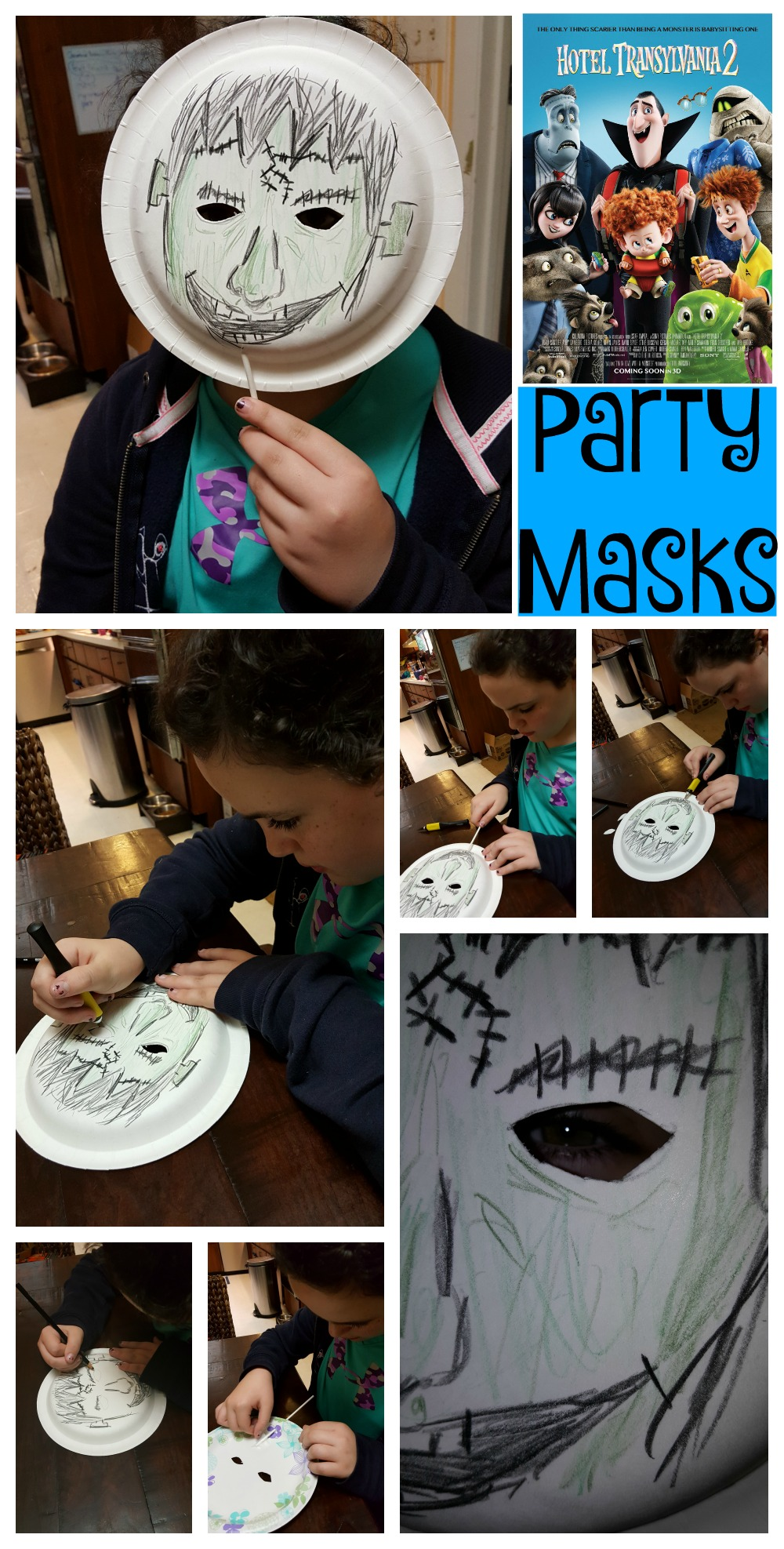 Family Fun with Hotel Transylvania 2 NOW on Blu-ray Party masks