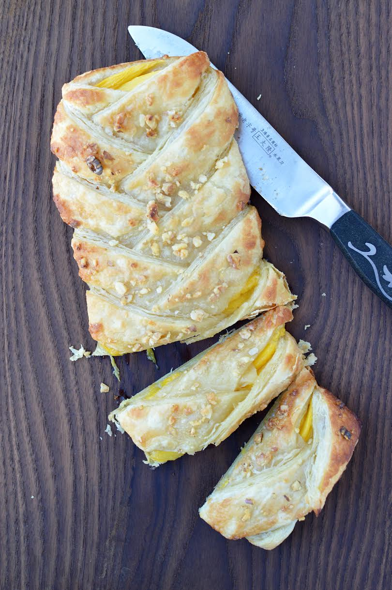 Puff Pastry Mango Braid Recipe