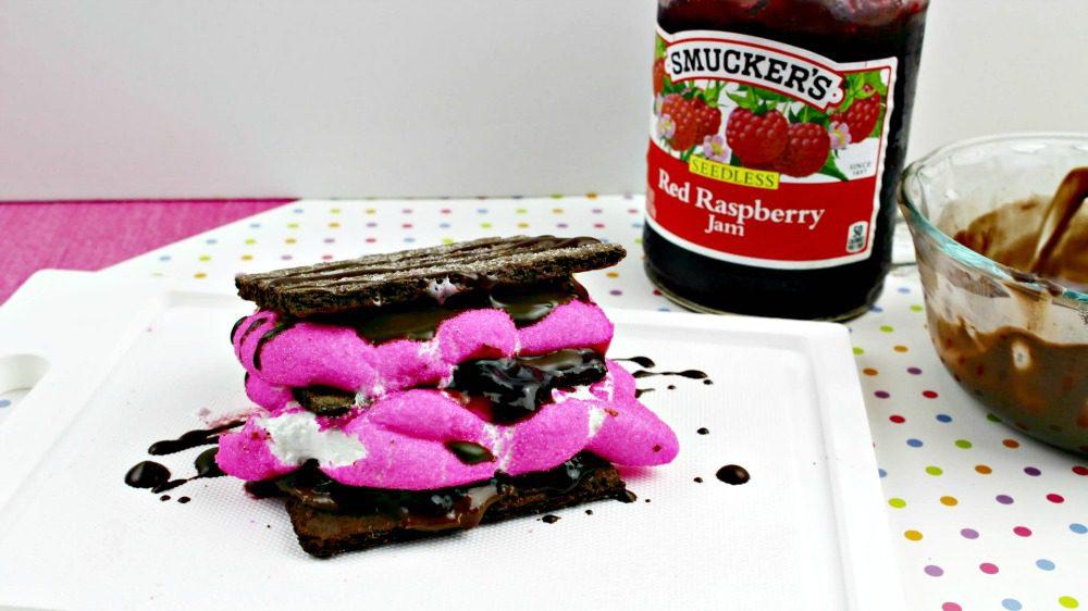 Chocolate Hazlenut Raspberry Peep Smores