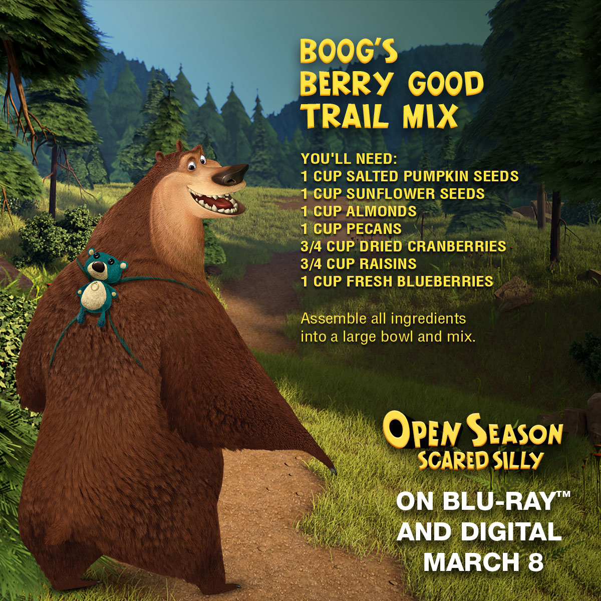 Open Season Scared Silly Berry Good Trail Mix