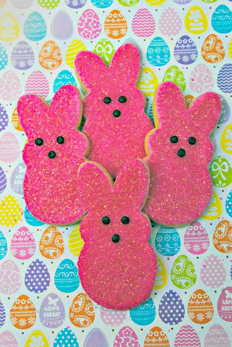 Pink Bunny Peeps Cookies