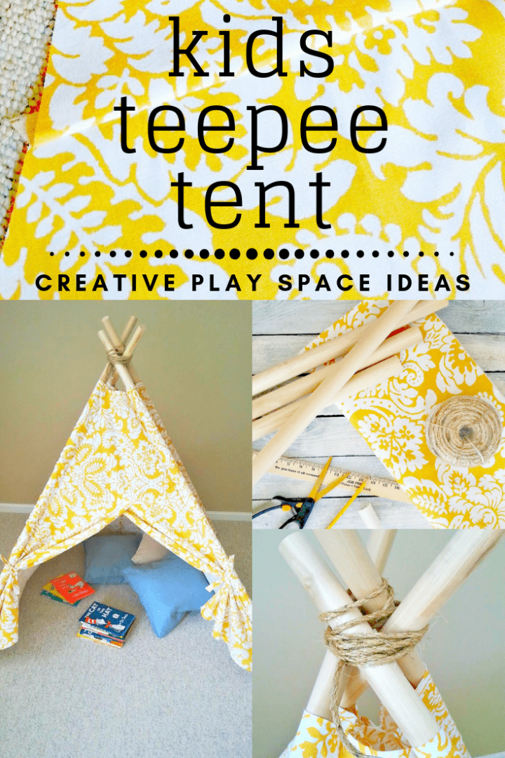 DIY Kids Teepee Tent Tutorial for a Creative Play Space