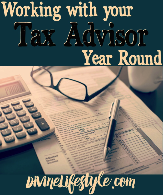 Working with your Tax Advisor Year Round
