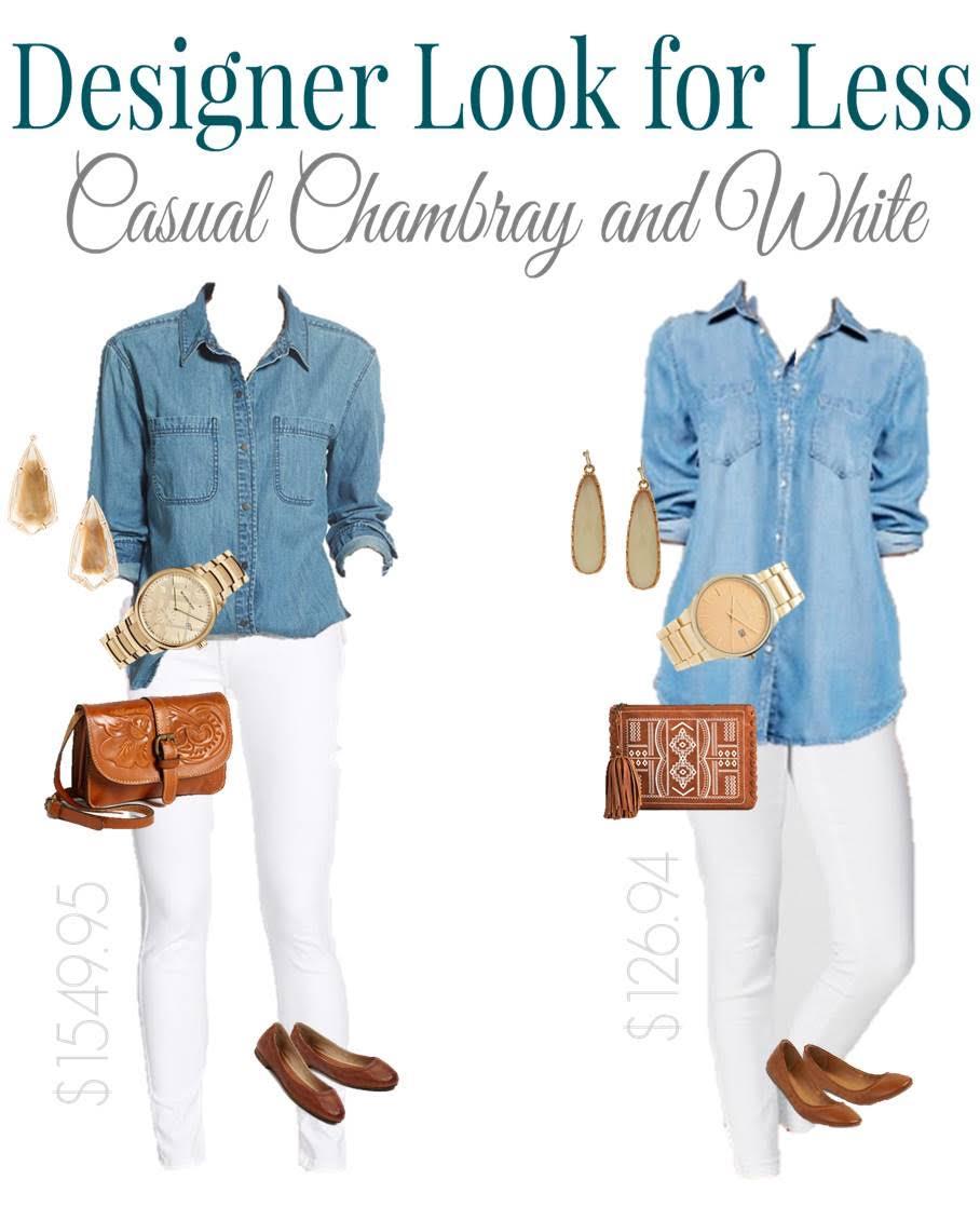 Designer Look for Less: Chambray Denim and White
