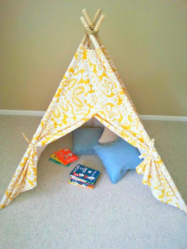 DIY Kids Teepee Tent Tutorial Childrens Craft Tent
