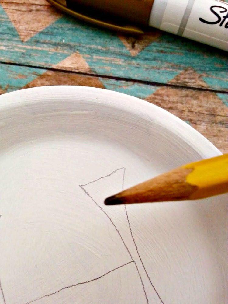 DIY Monogram Trinket Tray 4