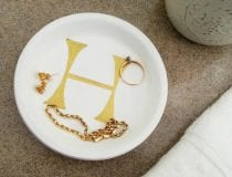 DIY Monogram Trinket Tray 9