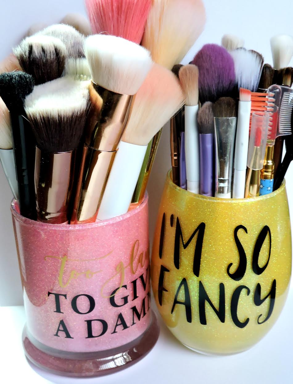 Etsy Makeup Brush Holders Hand Decorated