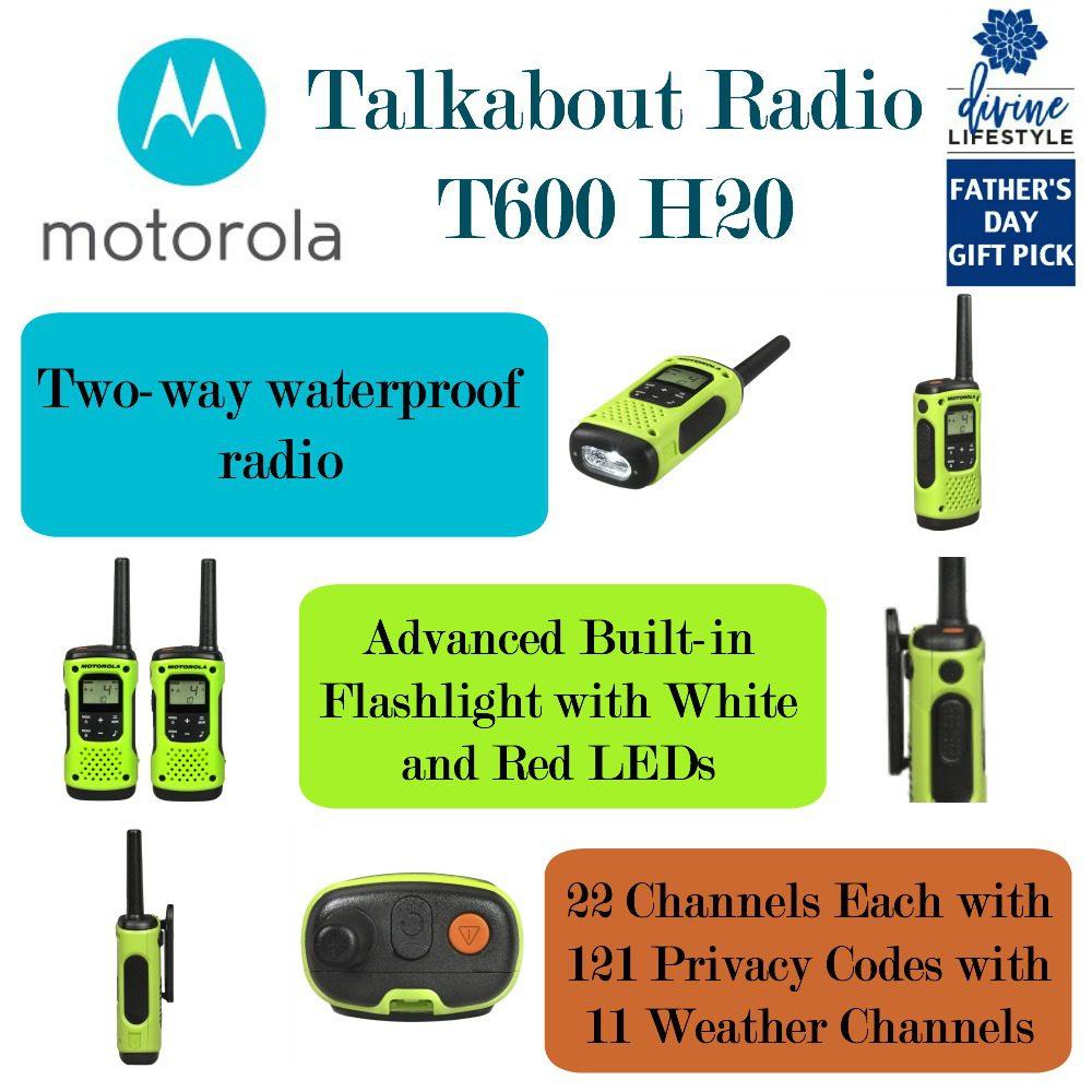 Motorola T600 Talkabout Waterproof Radio