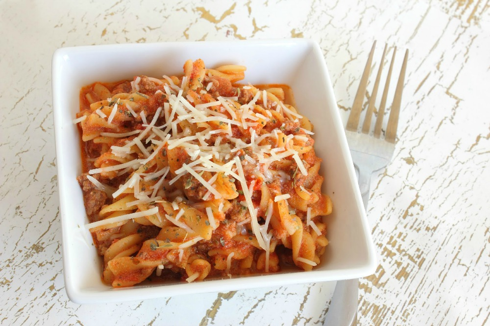 how to make red sauce pasta without cheese