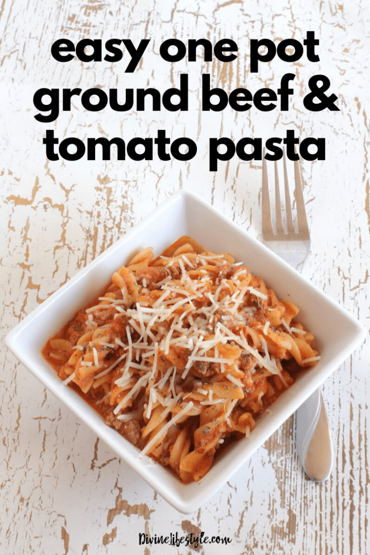 Easy One Pot Pasta Ground Beef and Tomato Recipe