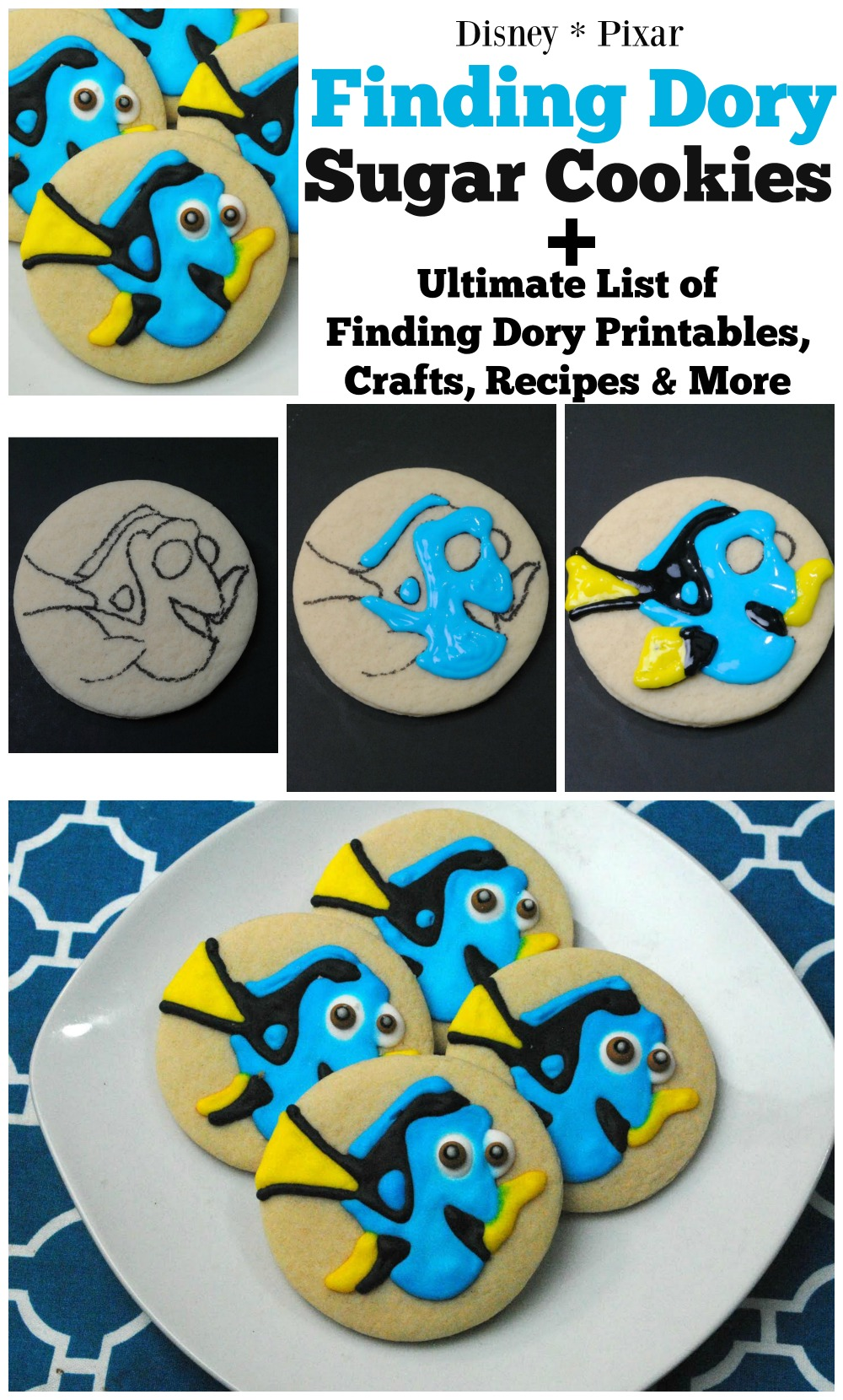 Disney Pixar Finding Dory Sugar Cookies Recipe
