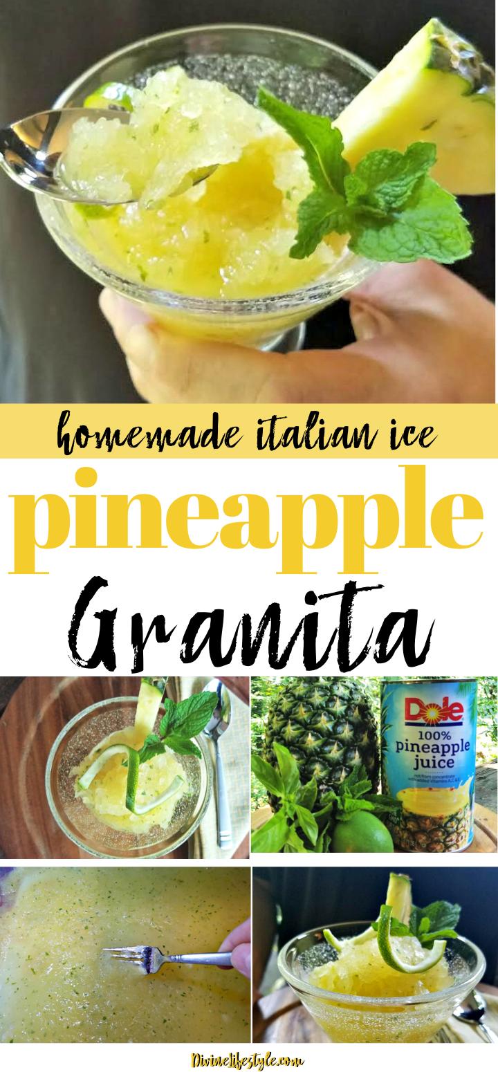 Pineapple Granita Ice Recipe