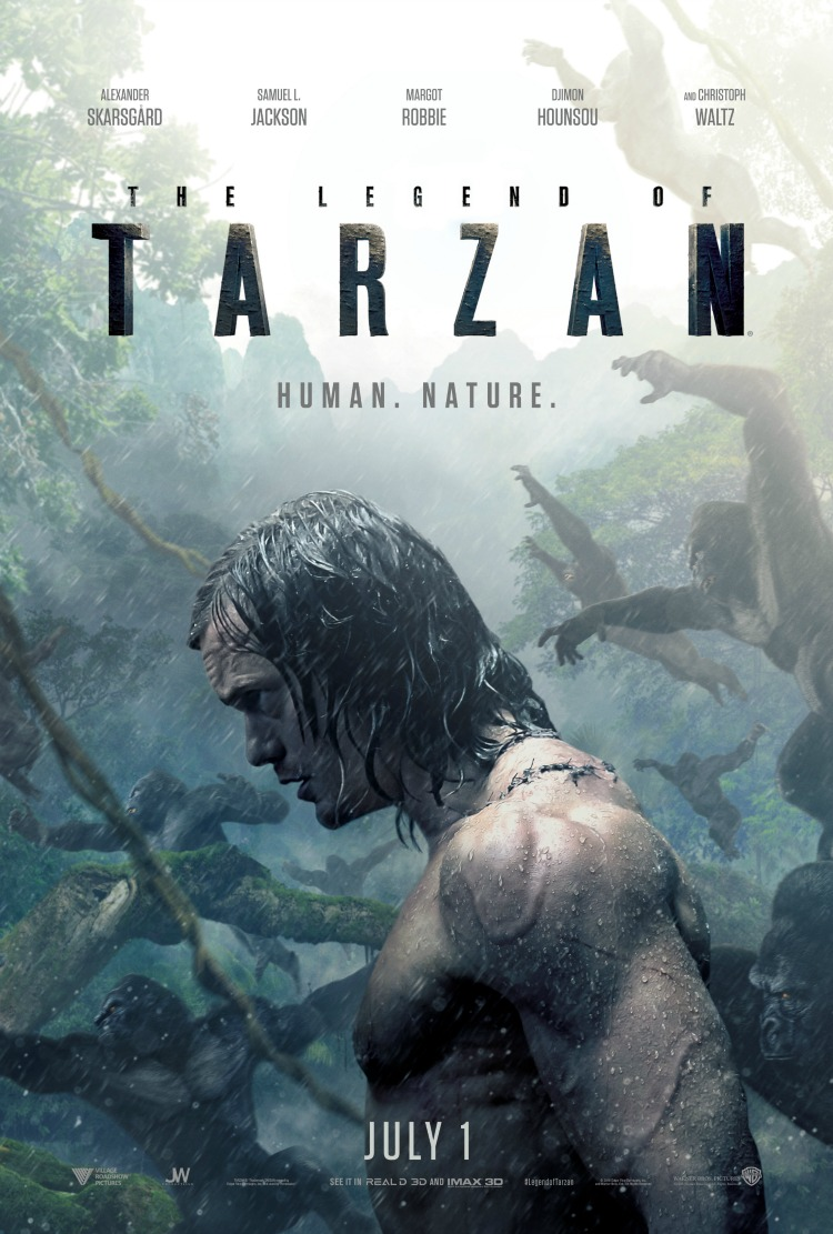 The Legend of Tarzan in theaters July 1