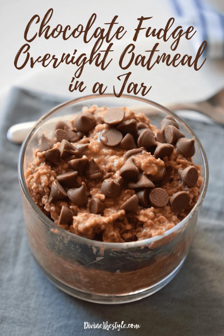 Chocolate Fudge Overnight Oatmeal in a Jar