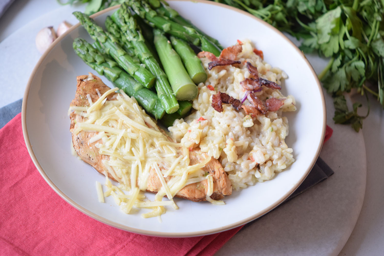 Creamy Baked Asiago Chicken Recipe