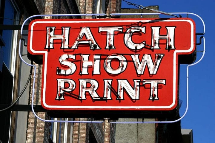 Hatch Show Print in Nashville Tennessee