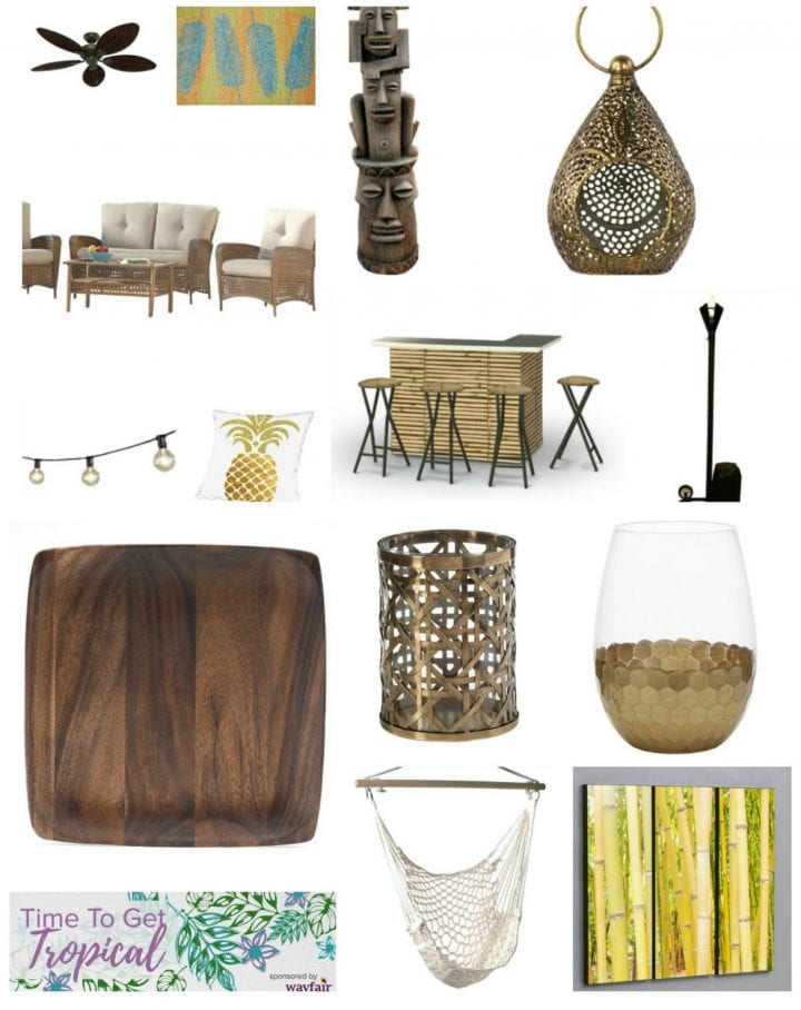 Tiki Chic Tropical Outdoor Living Space Inspired By Wayfair