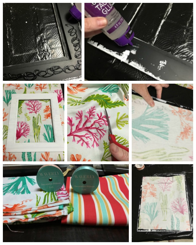 DIY No Sew Decorative Fabric Frames Waverly Inspirations