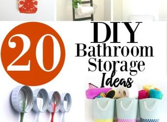 20 DIY Bathroom Storage Ideas
