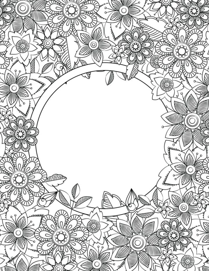 Floral design with empty center.