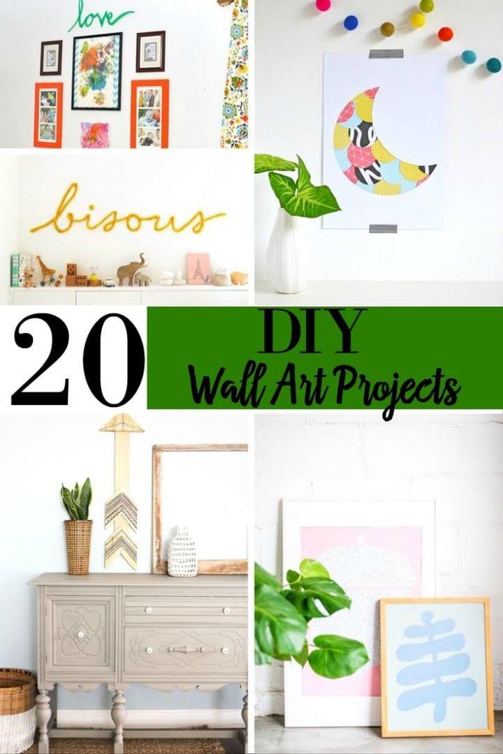 20 Elegant DIY Wall Art Projects