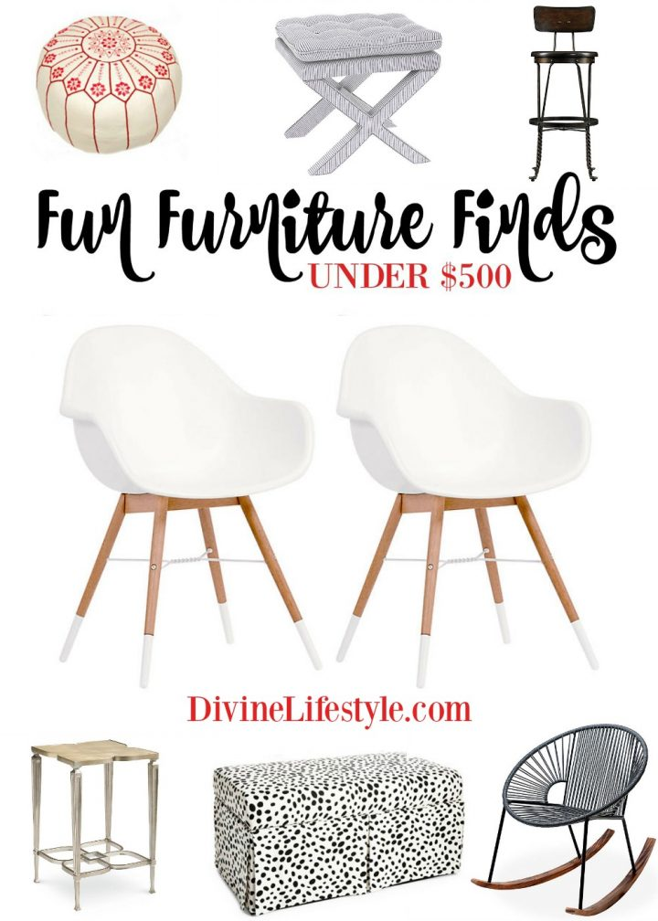 Fun Furniture Finds Under $500