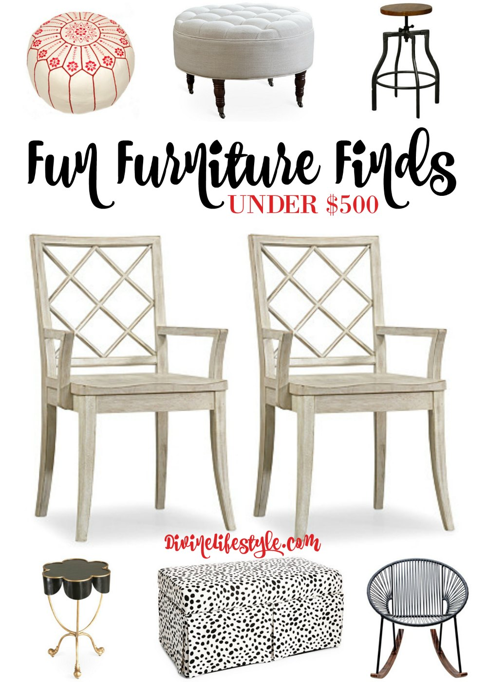 Fun Furniture Finds Under 500