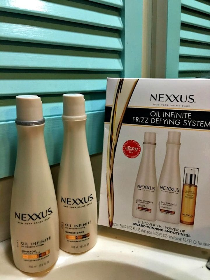 Nexxus Oil Infinite Frizz Defying System Review