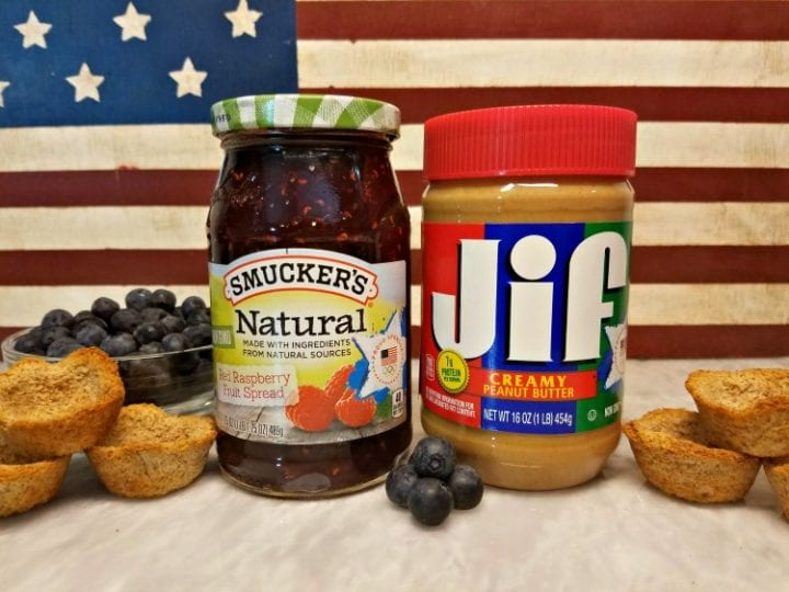 USA Inspired Peanut Butter and Jelly Cups Recipe Smucker's JIF Olympics #PBJ4TeamUSA