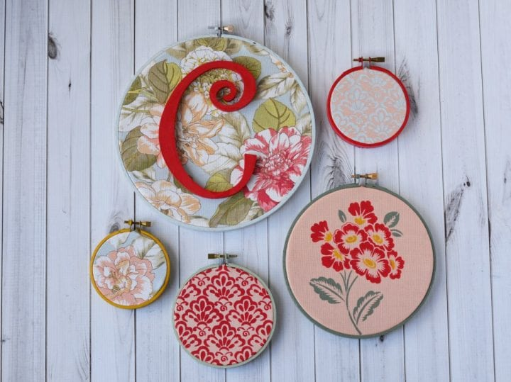 DIY Embroidery Hoop Gallery Wall #WaverlyInspirations #InAWaverlyWorld