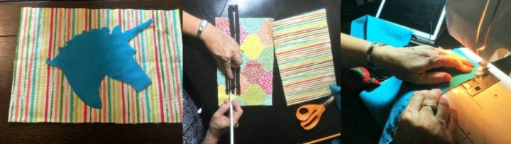 DIY Unicorn Head Pencil Case Waverly Inspirations Makeup Case
