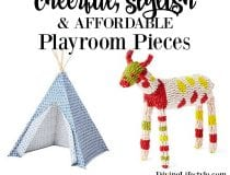 Cheerful, Stylish & Affordable Playroom Pieces