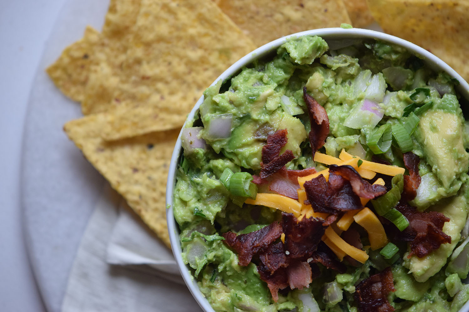 Cheddar Bacon Guacamole Recipe