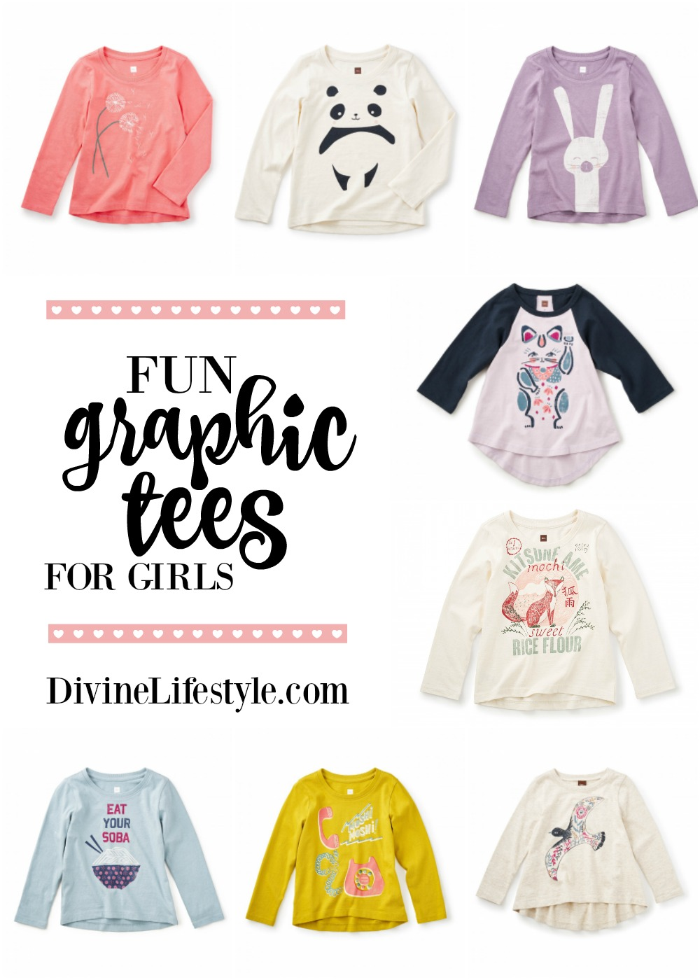Long Sleeve Graphic Tees for Girls