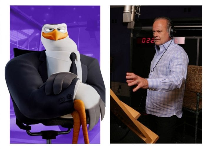 Meet the characters in STORKS the Movie #STORKS Kelsey Grammer