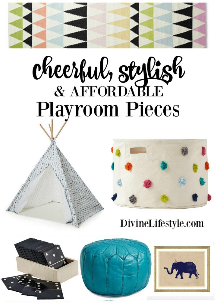 Cheerful Stylish and Affordable Playroom Pieces