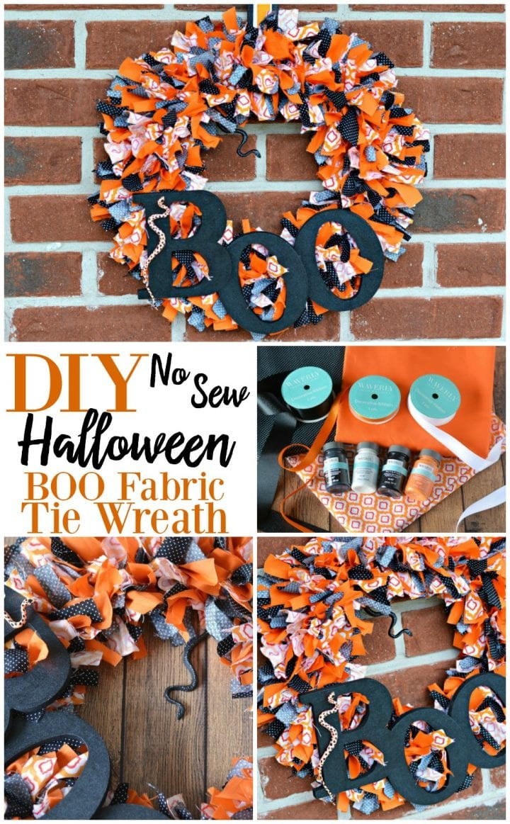 diy-no-sew-halloween-boo-fabric-tie-wreath