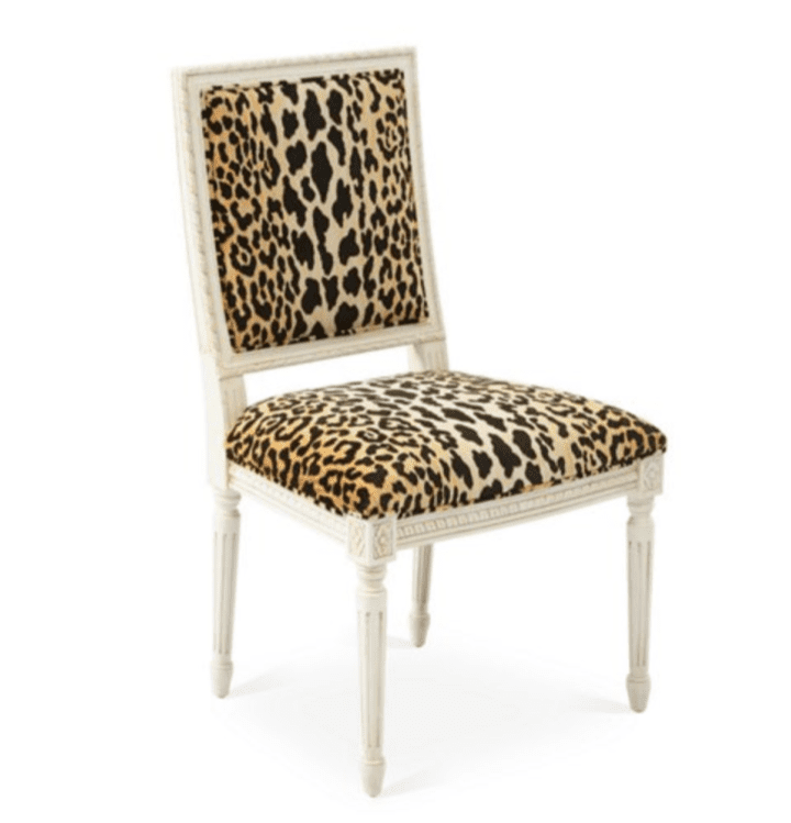 Velvet Furniture and Decor for the Home Exeter Side Chair in Velvet Leopard