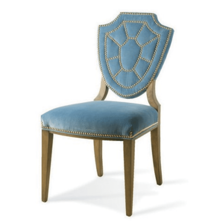Velvet Furniture and Decor for the Home Pawline Velvet Side Chair, Blue