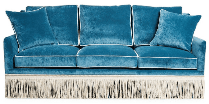 Velvet Furniture and Decor for the Home Portsmouth Sofa in Teal Velvet